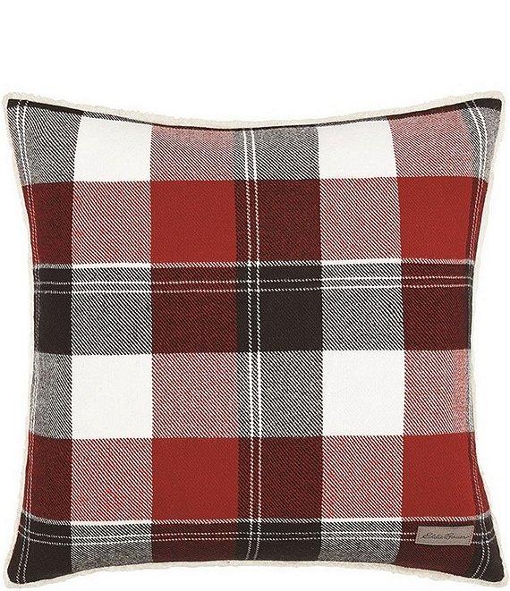 Dark Red Throw Pillows.Eddie Bauer Lodge Dark Red Square Throw Pillow