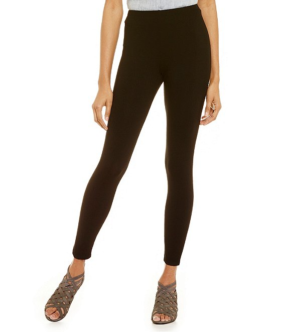 Color:Black - Image 1 - Essentials Stretch Jersey Ankle Leggings