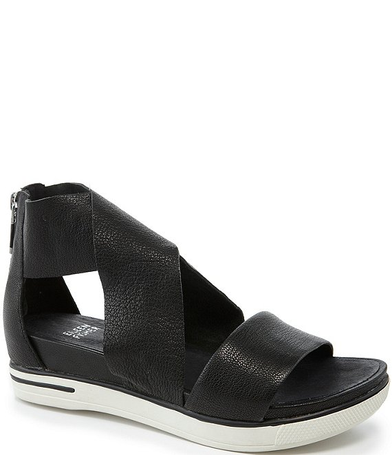 ed0fce0ae587 Eileen Fisher Sport Criss Cross Tumbled Leather Banded Sandals ...
