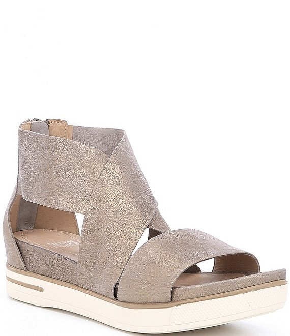 Eileen Fisher Sport Criss Cross Banded Suede Sandals