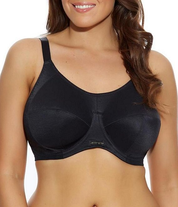 Color:Black - Image 1 - Energise Convertible Full-Figure Sports Bra