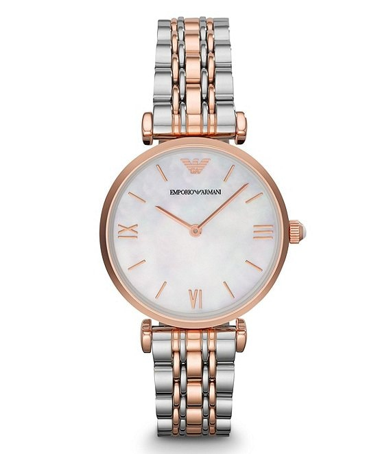 Emporio Armani Gia Two Tone Analog Bracelet Watch