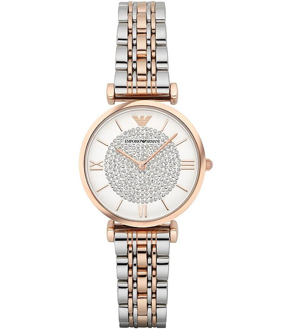Color:Two-Tone - Image 1 - Gia Two Tone Bracelet Watch