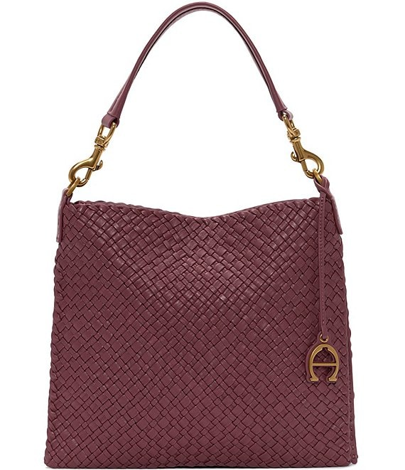 Etienne Aigner Irena Woven Small Hobo Bag