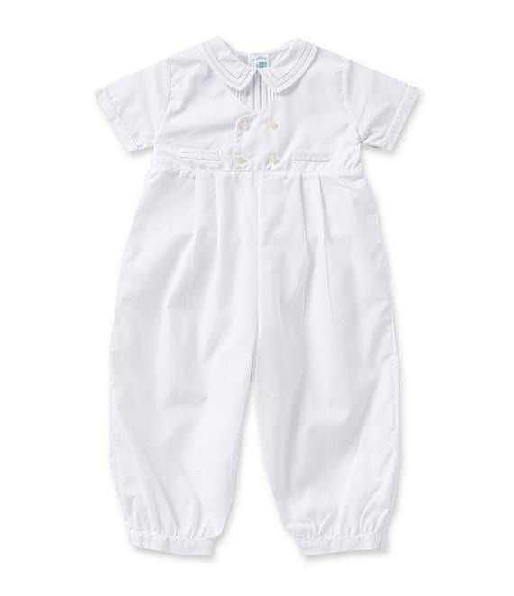 Color:White - Image 1 - 12-24 Months Baby Boys Christening Coveralls