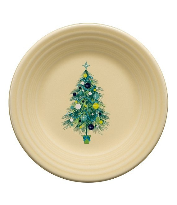 Fiesta Blue Christmas Tree 9#double; Luncheon Plate