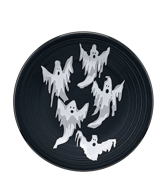 Fiesta Halloween Collection Flowing Ghosts 9#double; Luncheon Plate