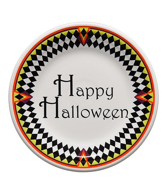 Fiesta Harlequin Happy Halloween 9#double; Luncheon Plate