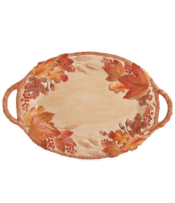 Fitz and Floyd Harvest Handled Oval Tray