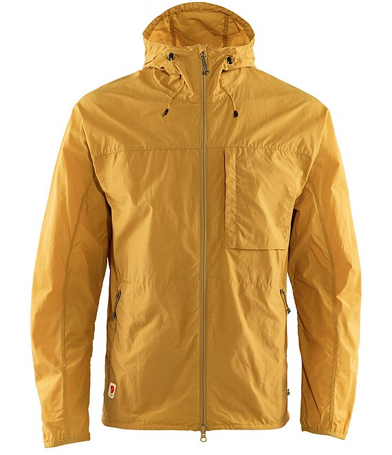 Color:Ochre - Image 1 - High Coast Full-Zip Recycled Materials Wind-Resistant Jacket