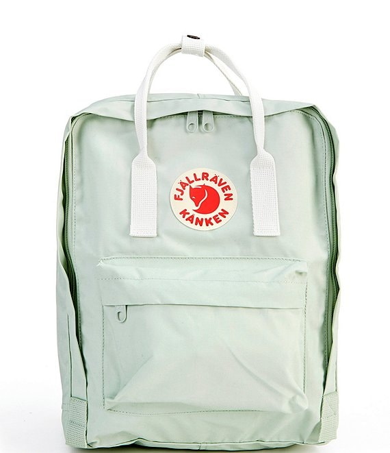 Color:Mint Green/Cool White - Image 1 - Kanken Colorblock Handles Water-Resistant Backpack