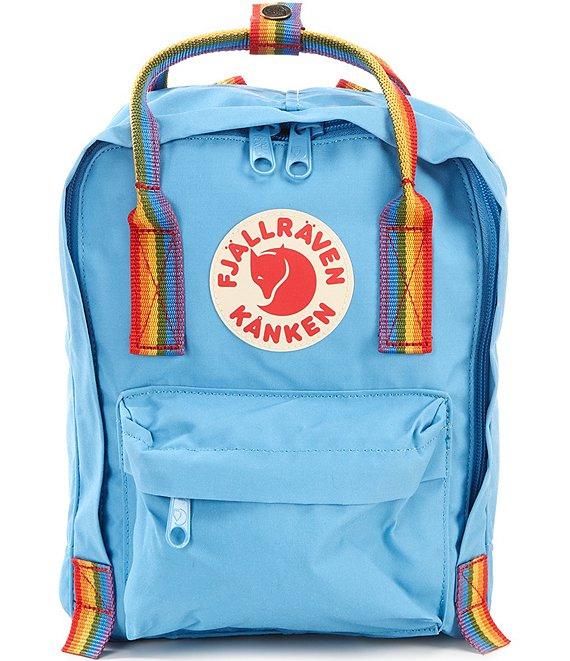 Color:Air Blue Rainbow - Image 1 - Mini Kanken Rainbow Handle Mini Backpack
