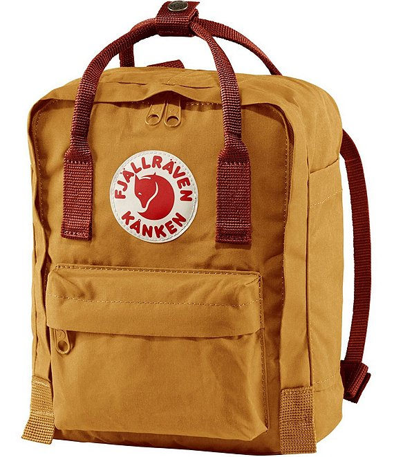 Color:Acorn-Ox Red - Image 1 - Contrast Handle Mini Kanken Water-Resistant Backpack