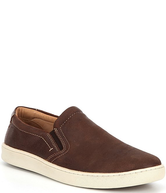 Color:Mahogany - Image 1 - Men's Boardwalk Plain Toe Slip-Ons