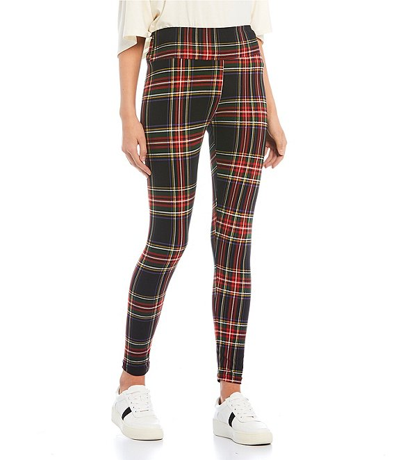 Fornia Plaid Brushed High Rise Leggings