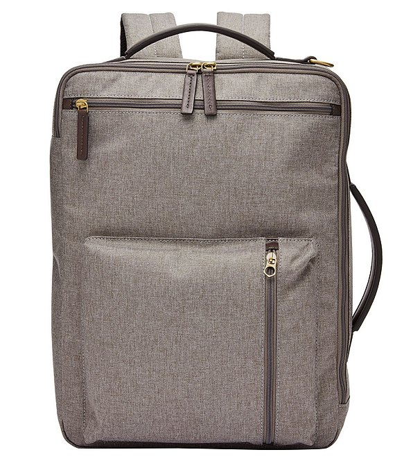 Color:Titanium - Image 1 - Buckner Fabric Laptop Backpack/Workbag