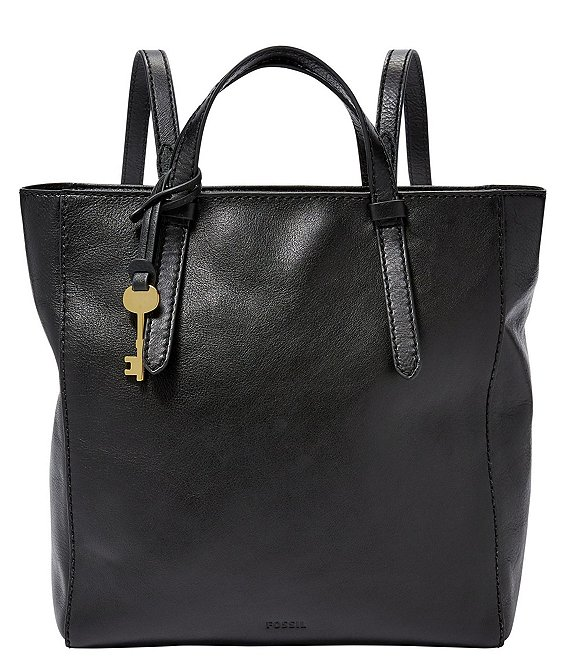 Color:Black - Image 1 - Camilla Convertible Small Leather Backpack