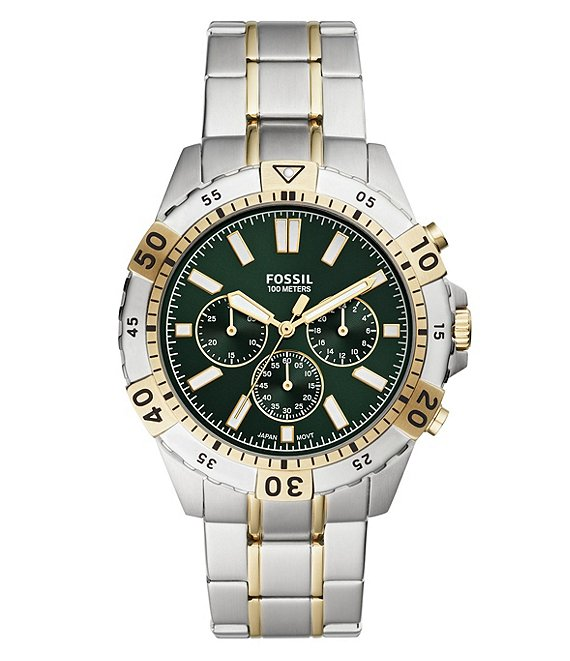 Color:Two Tone - Image 1 - Garrett Chronograph Two-Tone Stainless Steel Watch
