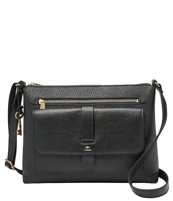 Color:Black - Image 1 - Kinley Leather Crossbody Bag