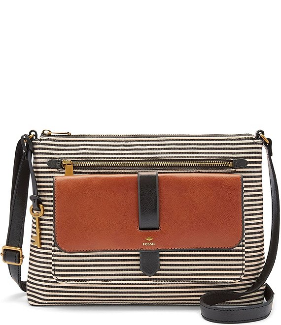 elegant shoes skate shoes to buy Fossil Kinley Striped Crossbody Bag