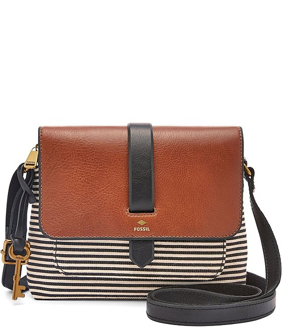Color:Black Stripe - Image 1 - Kinley Striped Small Colorblock Crossbody Bag