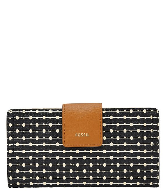 Color:Black Key Stripe - Image 1 - Logan RFID Stripe Tab Wallet