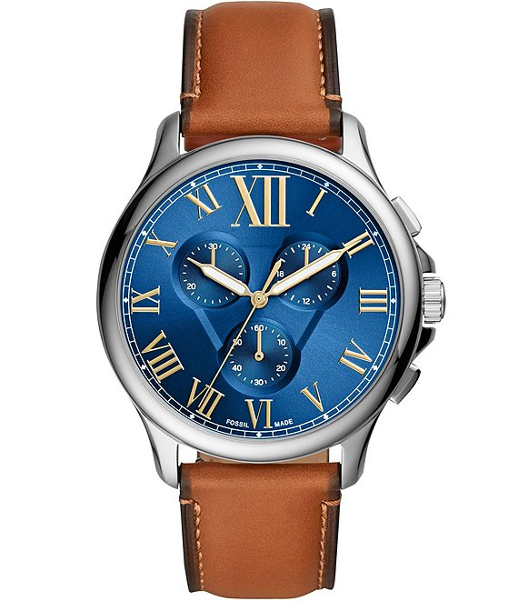 Fossil Monty Chronograph Luggage Leather Watch