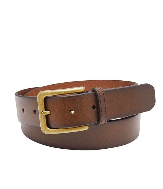 Color:Dark Brown - Image 1 - Morrison Leather Belt