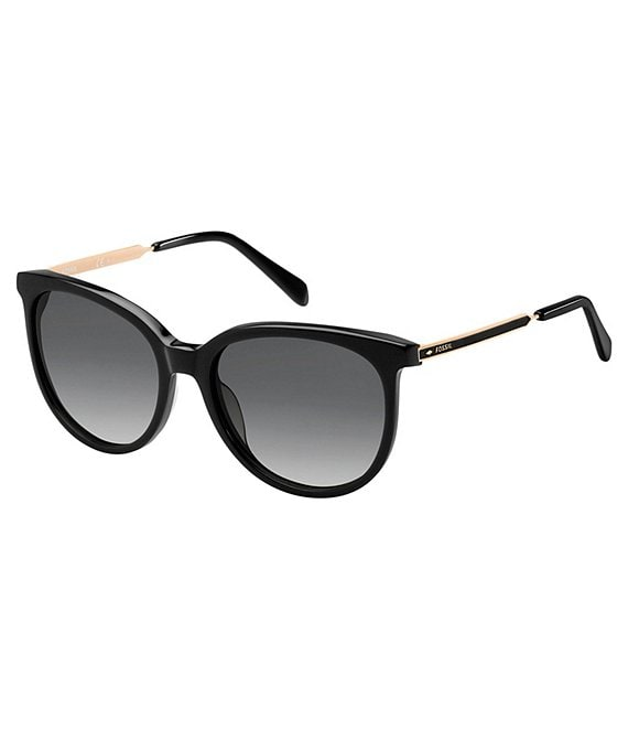 Color:Black - Image 1 - Round Sunglasses