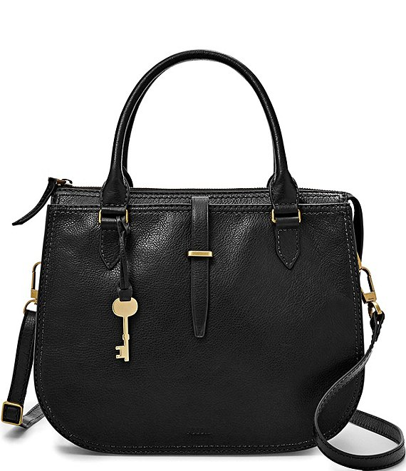 Color:Black - Image 1 - Ryder Leather Satchel Bag