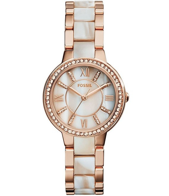 Fossil Virginia Stainless Steel Glitz Bracelet Watch