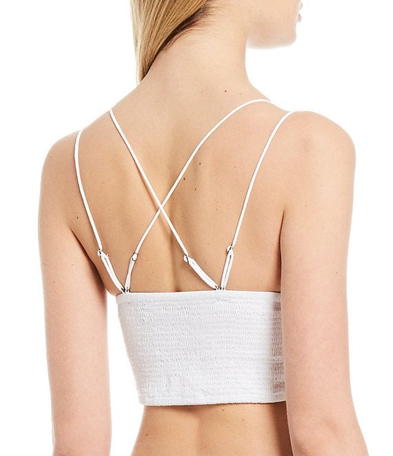 Silver//Black New $48 Intimately Free People Keep The Change Bra Pale Blue