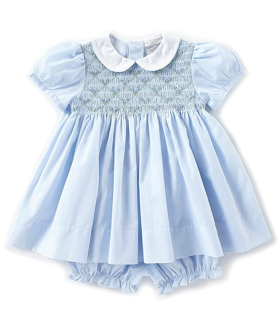 Friedknit Creations Baby Girls 3-9 Months Floral Printed Smocked Dress