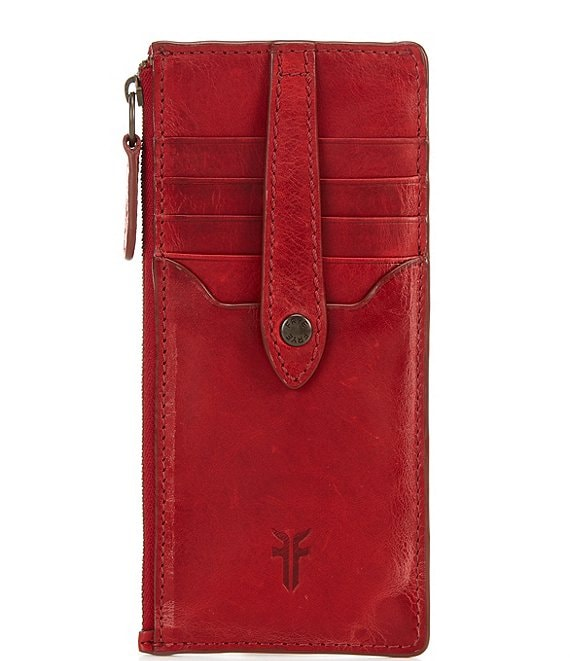 Color:Red - Image 1 - Melissa Snap Card Wallet