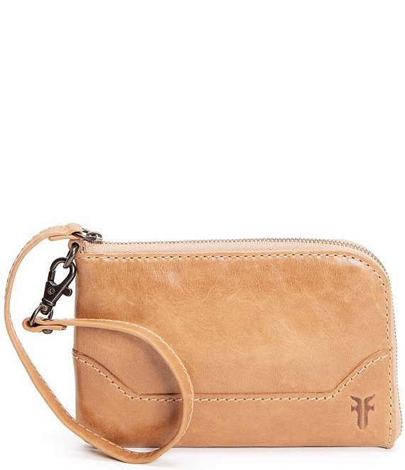 Frye Melissa Leather Zip Wristlet