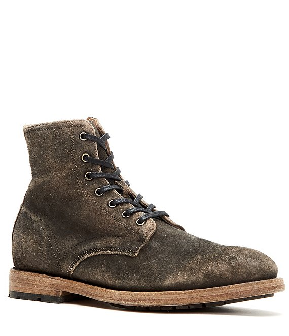 2bbf5a05315 Frye Men's Bowery Leather Lace Up High Top Boot