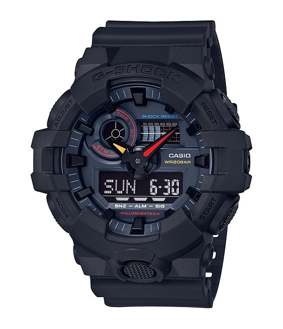 G-Shock Ana-Digi Black Multi Color Accent Watch