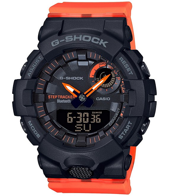 Color:Red - Image 1 - Black Red Band Resin Ana-Digital Watch