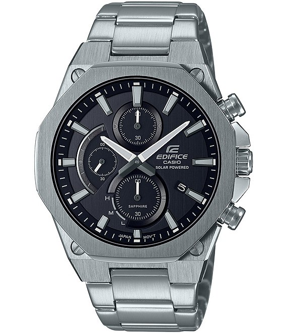 Color:Silver - Image 1 - Edifice Analog Silver Stainless Steel Watch
