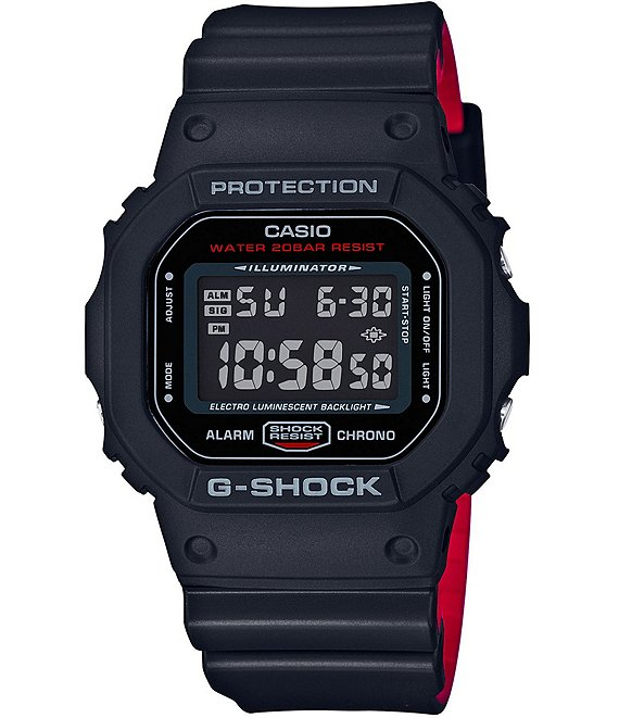 G-Shock Retro Square Digital Resin-Strap Watch