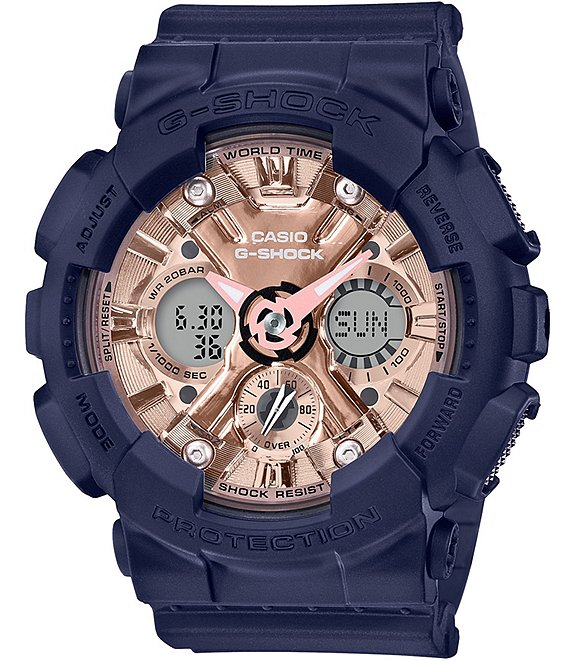Color:Navy - Image 1 - S-series Ana Digi Navy Shock Resistant Watch
