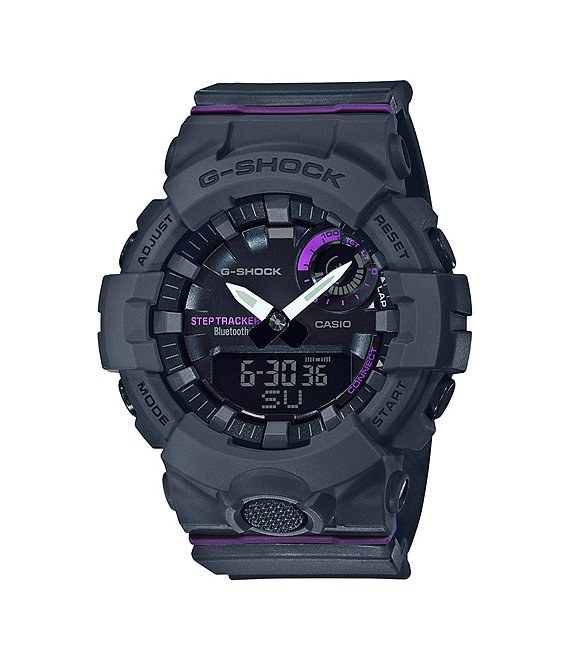 Color:Grey - Image 1 - G-shock Step Tracker Analog-Digital Shock Resistant Watch