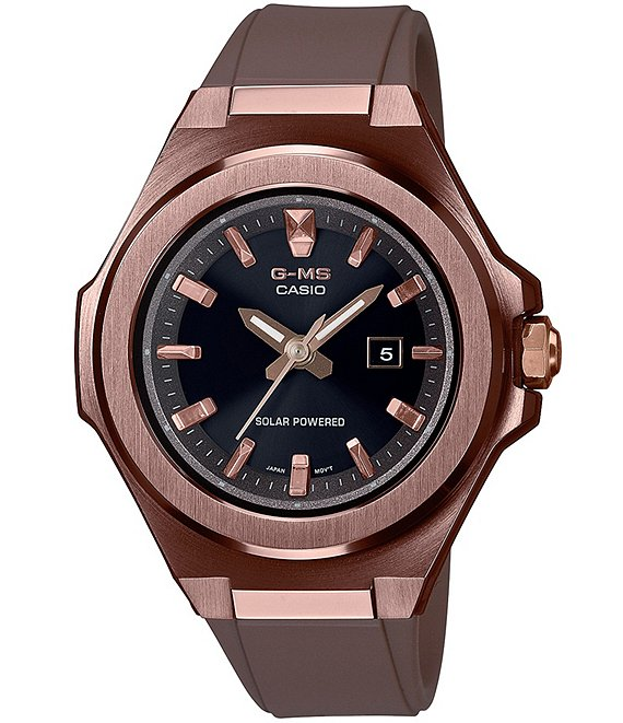 Color:Brown - Image 1 - Women's Brown Stainless Steel and Resin Watch