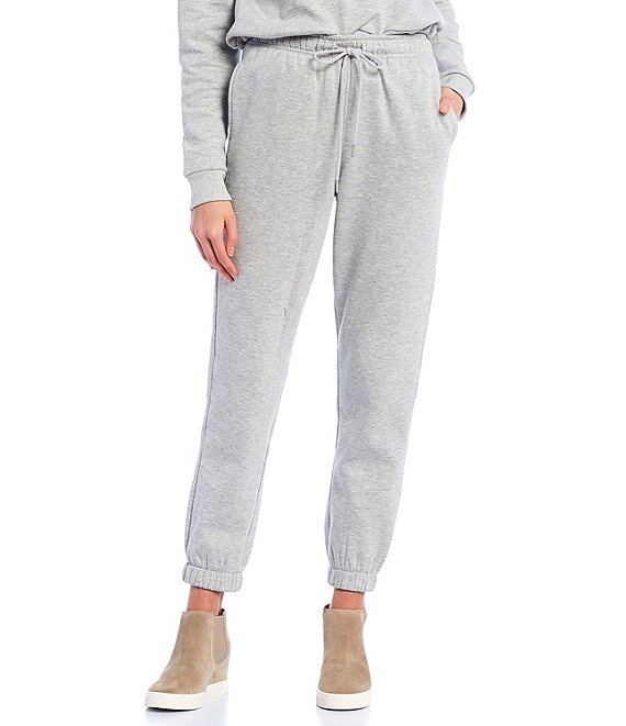 Color:Heather Grey - Image 1 - Coordinating Drawstring Ankle Jogger Pants