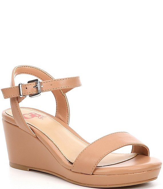 GB Girls' Juudeth-Girl Leather Wedge