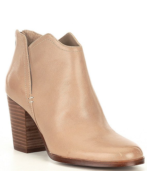 Color:Boho Taupe - Image 1 - Re-Run Cut Out Casual Block Heel Booties