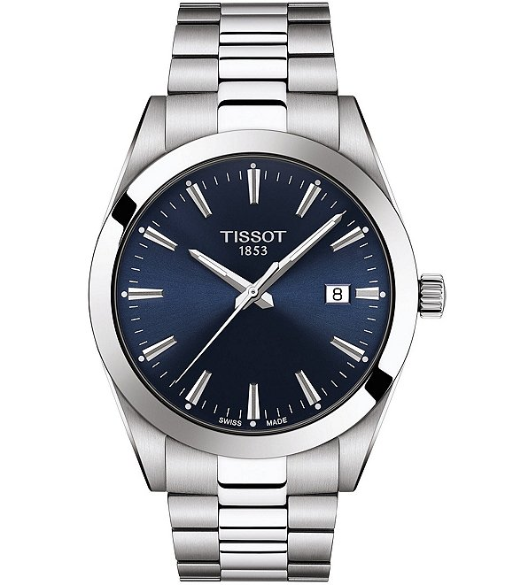 Gentleman Stainless Steel Blue Dial Bracelet Watch