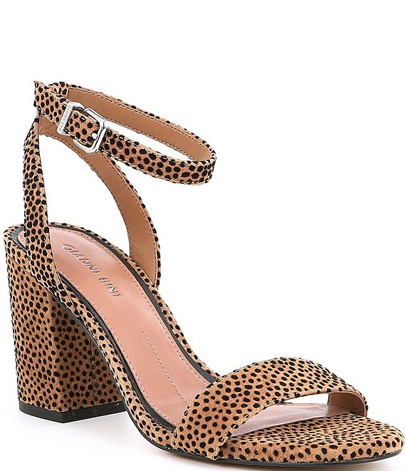Gianni Bini Arleena Cheetah Print Block Heel Sandals