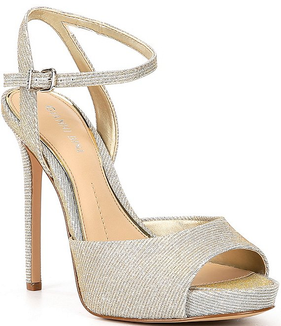 Color:Glow Up Gold - Image 1 - Camwren Metallic Stiletto Platform Sandals