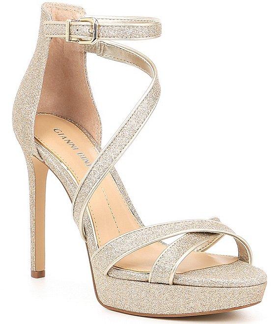 561e46e44bf Gianni Bini Corielle Glitter Strappy Platform Sandals